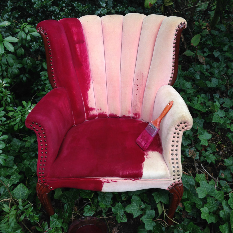 Simply Paint The Dye Onto The Dry Upholstered Chair.