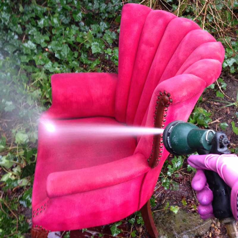 Once The Chair Has Been Painted With Dye Use A Garden Hose To Rinse Until Water Runs Clear Rit Is Non Toxic So You Don T Have Worry