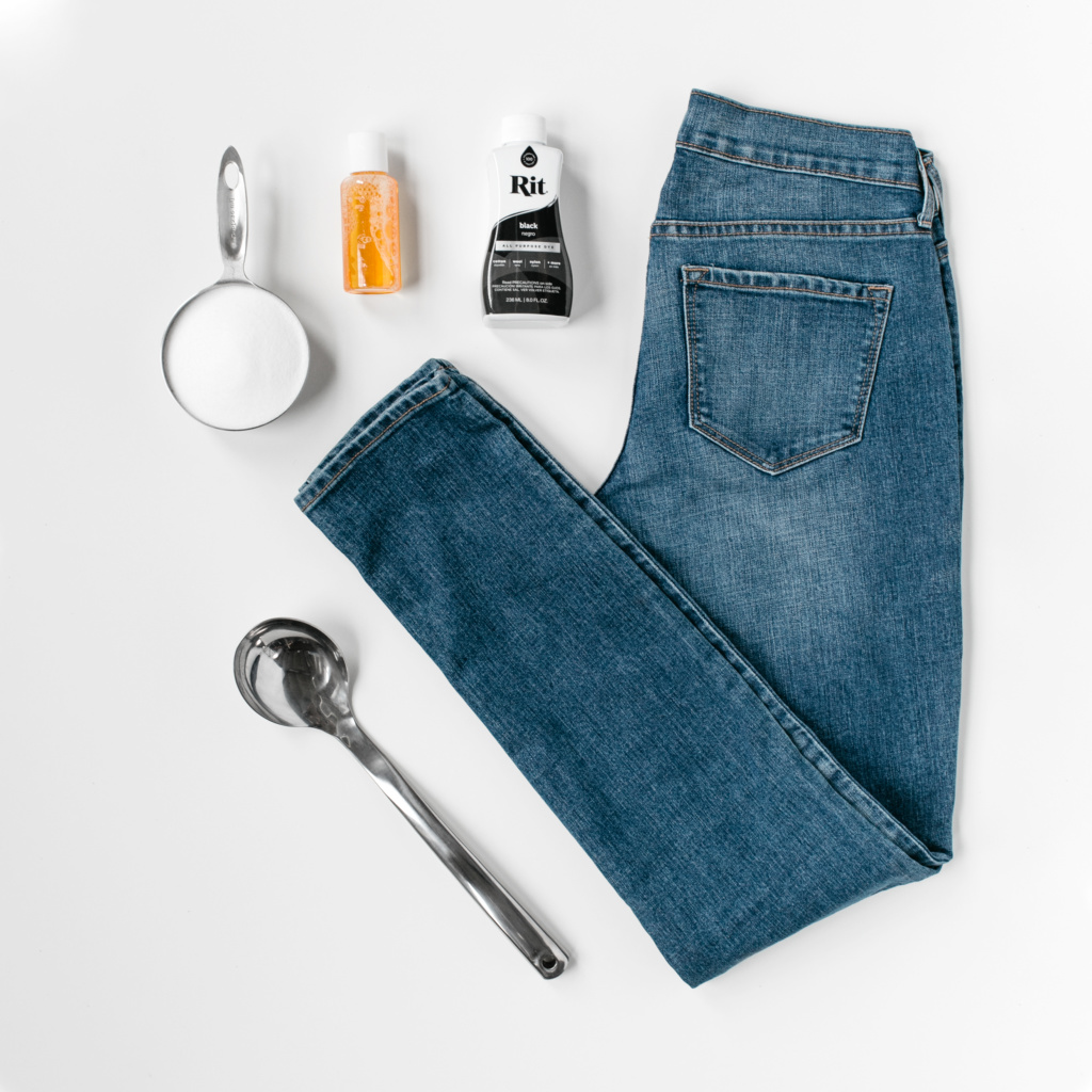 Before Dyeing Remove Any Visibile Stains On The Jeans This Will Help Achieve Uniform Color Results When Prewash Them In Warm Soapy Water