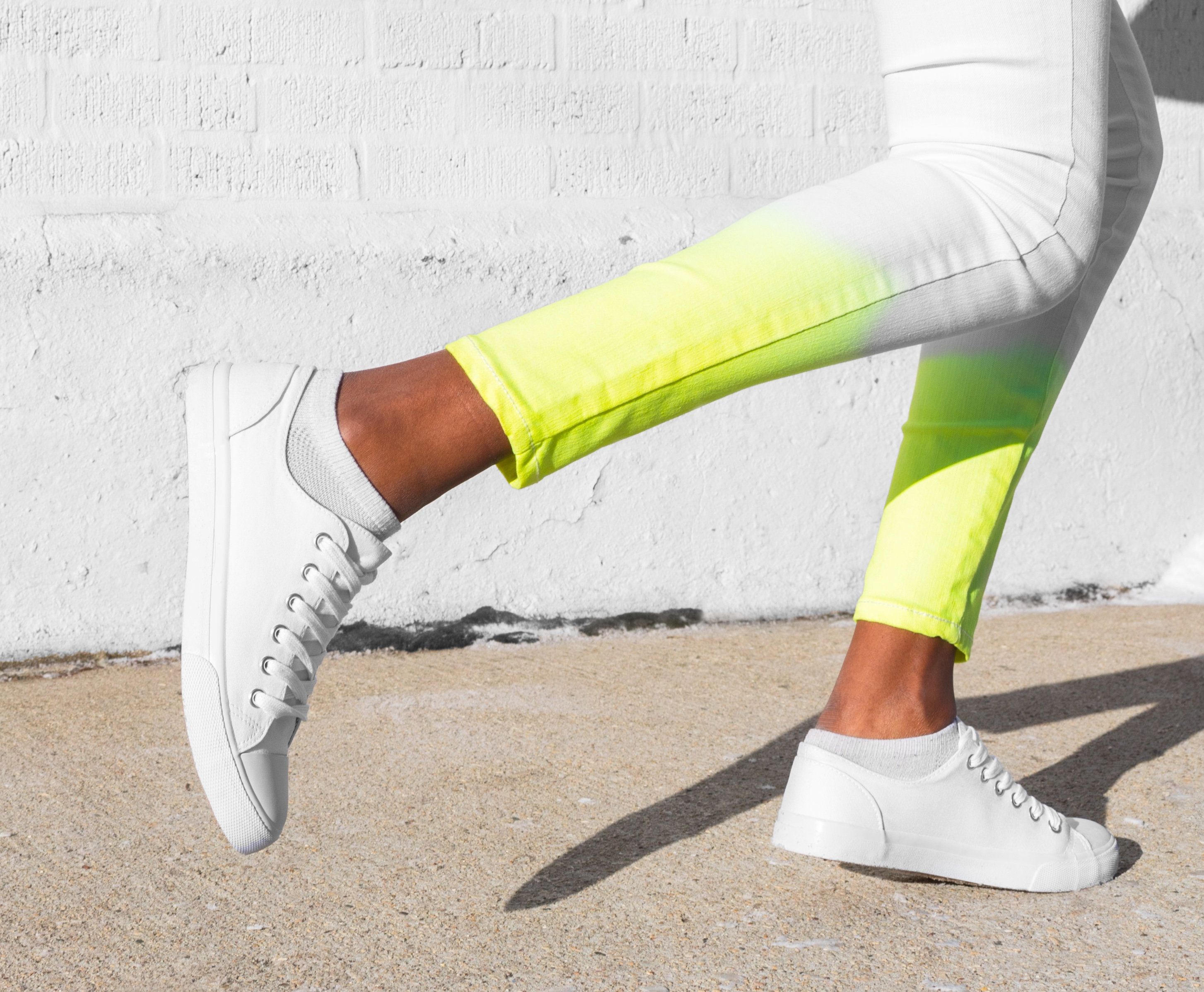 Dip Dyed Neon Jeans