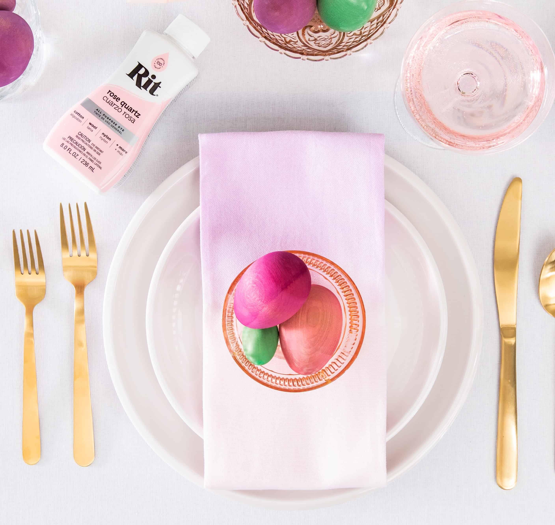 Dip Dyed Easter Napkins – Rit Dye