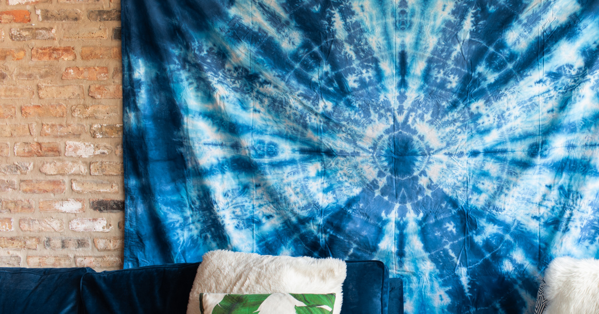Dyed Wall Tapestry Rit Dye