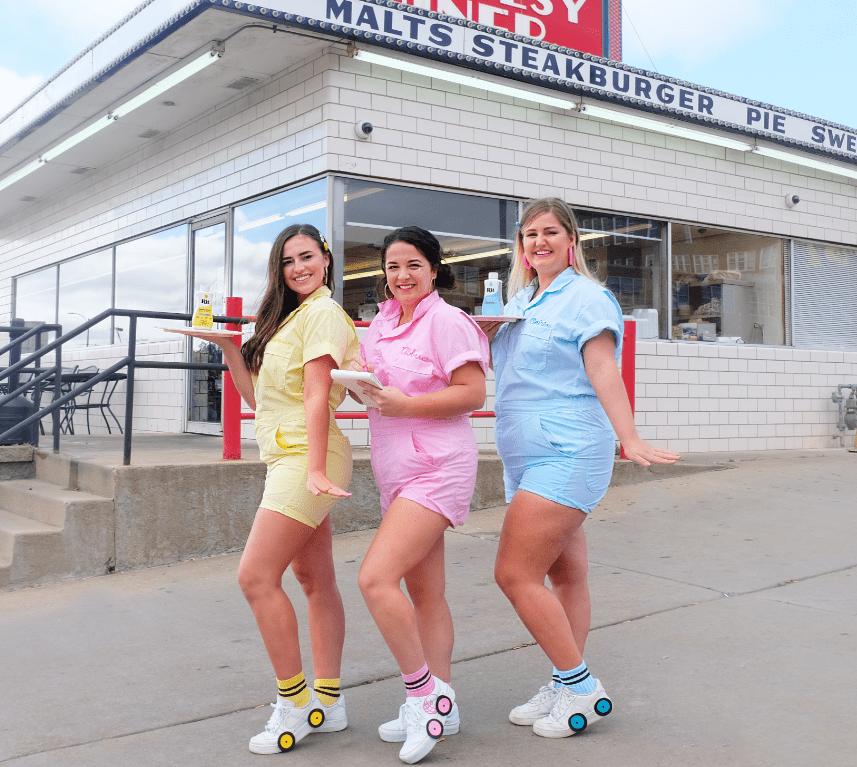 Retro Roller Waitress