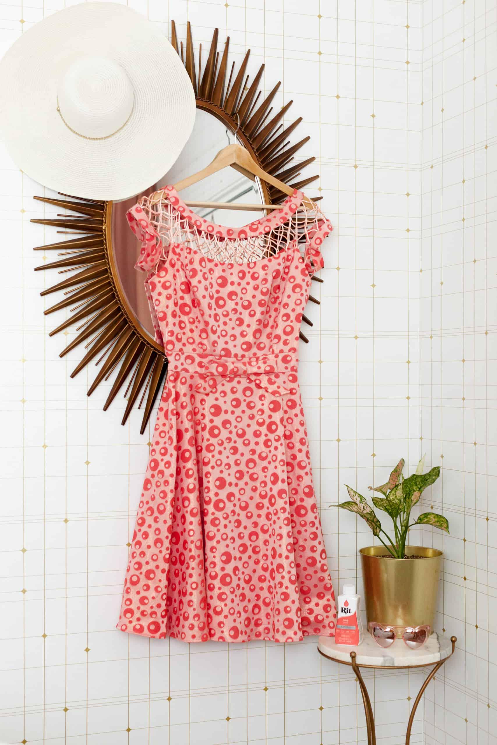 Overdyed Pattern Dress