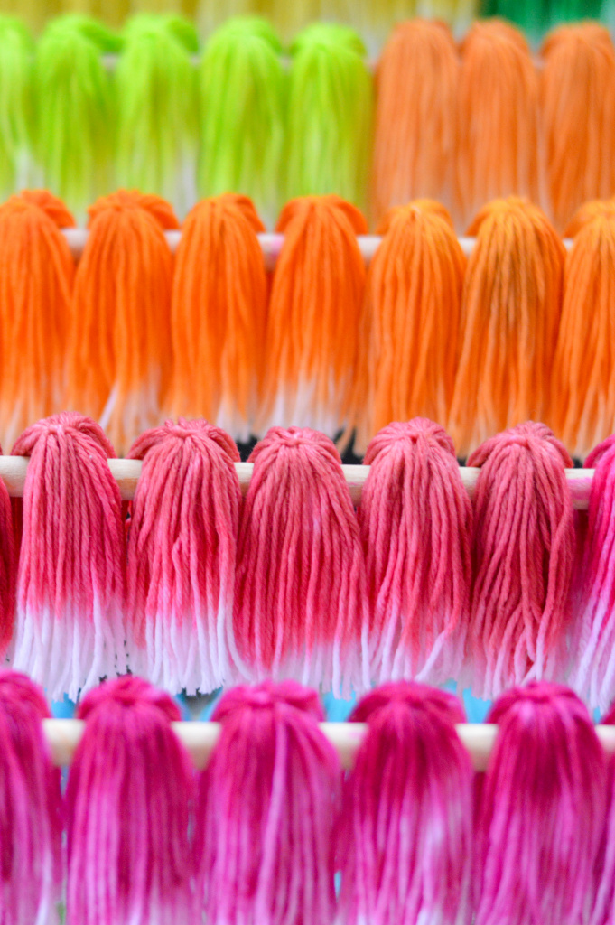 Dip Dyed Tassel Tree for the Holidays